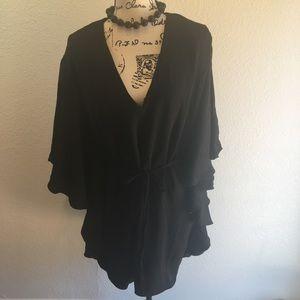 🌹Gorgeous black dress with mini rope belt NWT